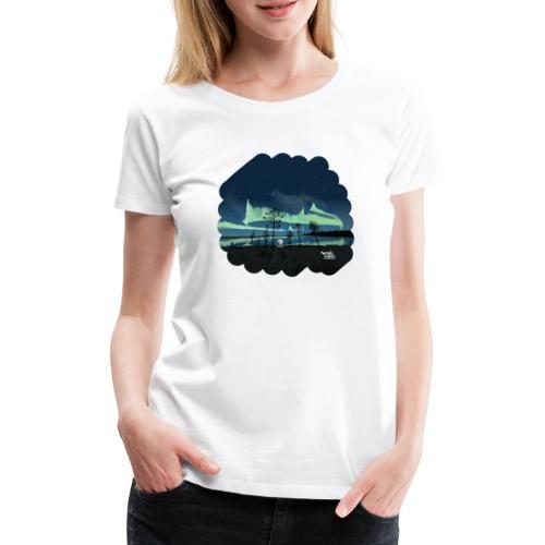 Reflet des aurores boréales - T-shirt Premium Femme