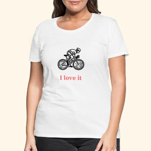 I love my bicycle - Koszulka damska Premium