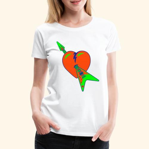 music heart - Camiseta premium mujer