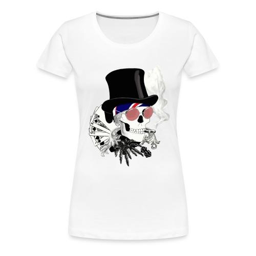 poker-skull - Frauen Premium T-Shirt