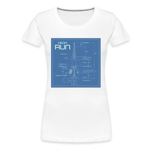 NeonRun blueprint - Vrouwen Premium T-shirt