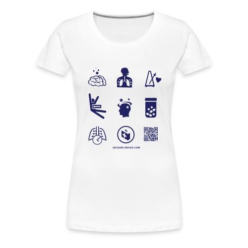 teeA3iconesBleu 01 png - T-shirt Premium Femme