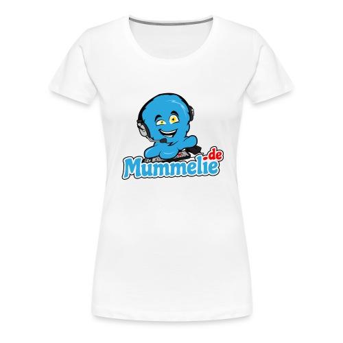 blau komplett übereinander - Frauen Premium T-Shirt
