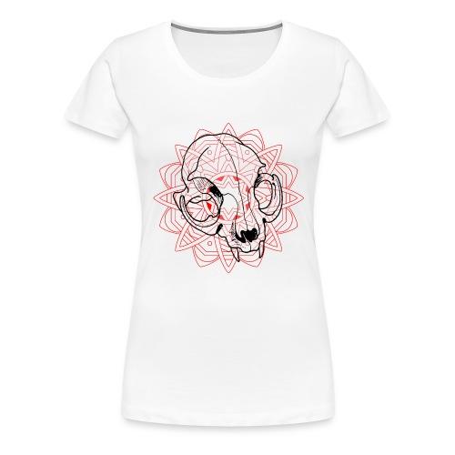 Mandala & chat - T-shirt Premium Femme