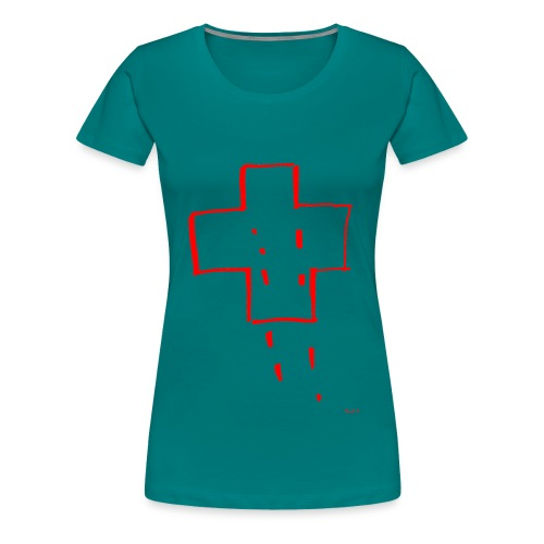Cross Sketch - Women's Premium T-Shirt