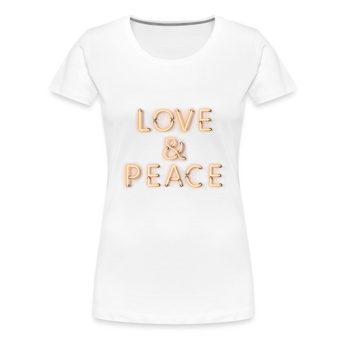 Love And Peace Neon - Frauen Premium T-Shirt