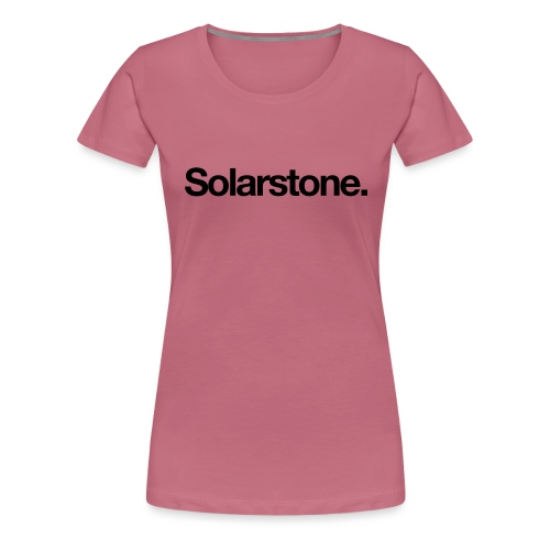 Solarstone Logo Black - Women's Premium T-Shirt