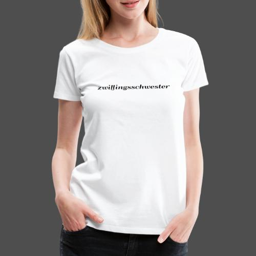 bliźniaczka - Koszulka damska Premium
