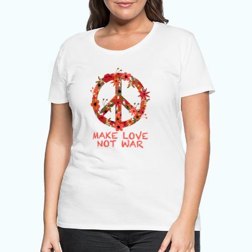 Hippie flowers peace - Women's Premium T-Shirt