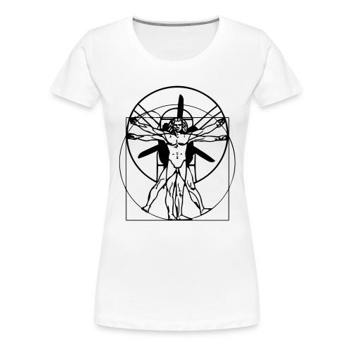 Leonardo da Vinci Vitruvian PPG Man - Frauen Premium T-Shirt