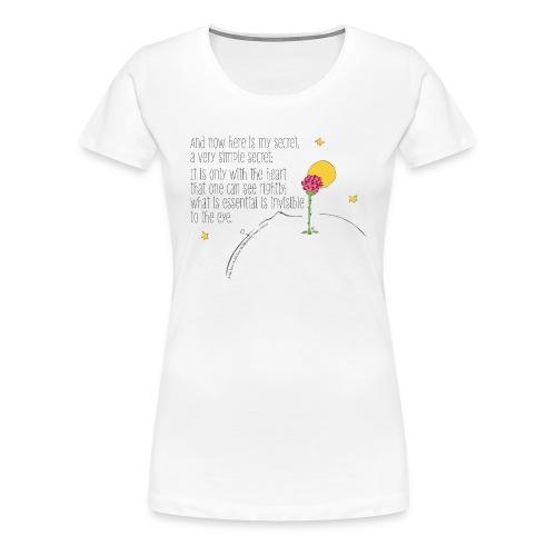 Der kleine Prinz Rose Spruch UK - Frauen Premium T-Shirt