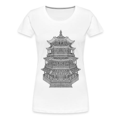 Pagode batiment japonais - T-shirt Premium Femme