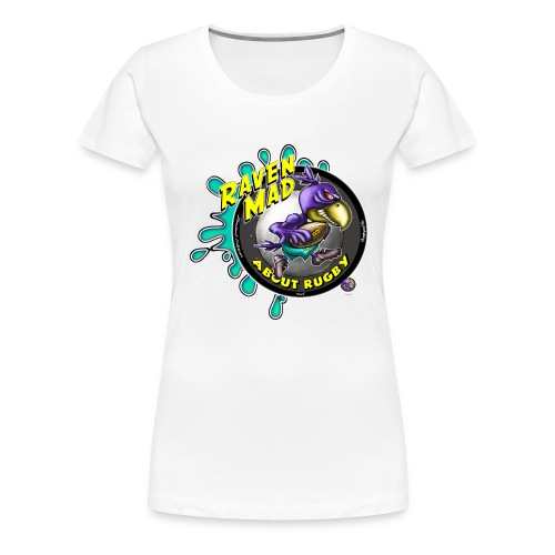 Raven Mad About Rugby - Women's Premium T-Shirt