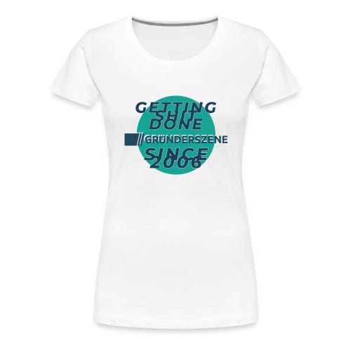 Since 2006 – rund – blau - Frauen Premium T-Shirt