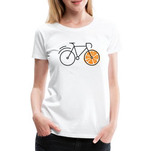 ORANGE BIKE - DESIGN - Frauen Premium T-Shirt