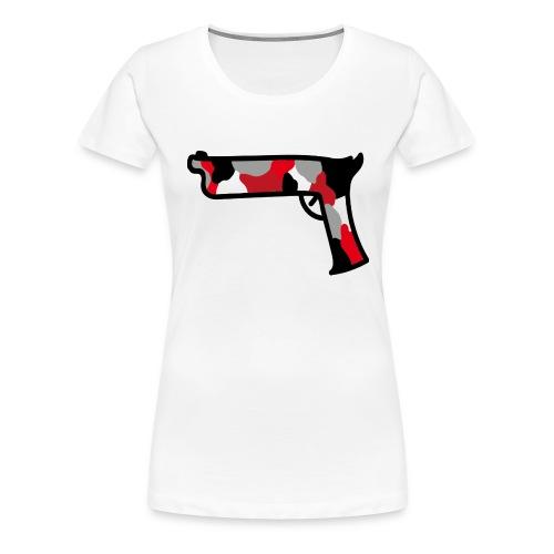 strijdR T-shirt pistol black - Vrouwen Premium T-shirt