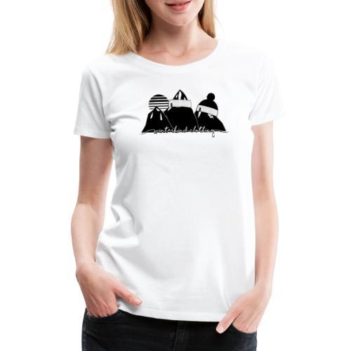 winterkind oldschool sticker - Frauen Premium T-Shirt