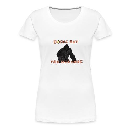 harambe 2 1 2 png - Women's Premium T-Shirt