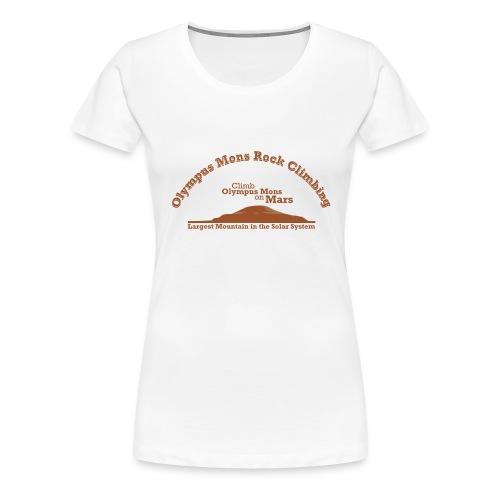 Olympus Mons Rock Climbing - Women's Premium T-Shirt