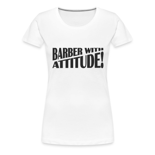 Barber T-Shirt logo 6 - Women's Premium T-Shirt
