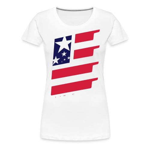 FlagUSA-URBAN - Camiseta premium mujer
