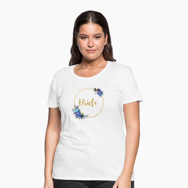 Bride - golden wreath / golden wreath