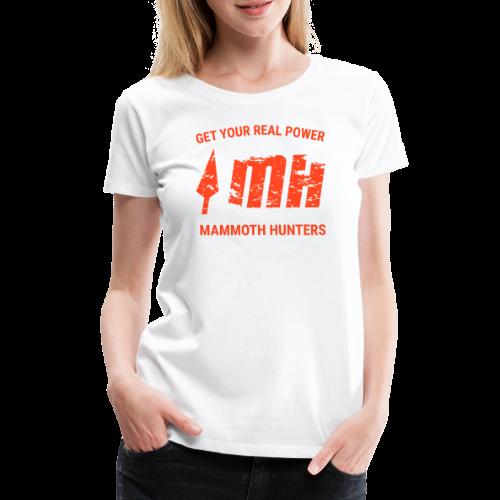 Mammoth Hunters / Naranja - Camiseta premium mujer
