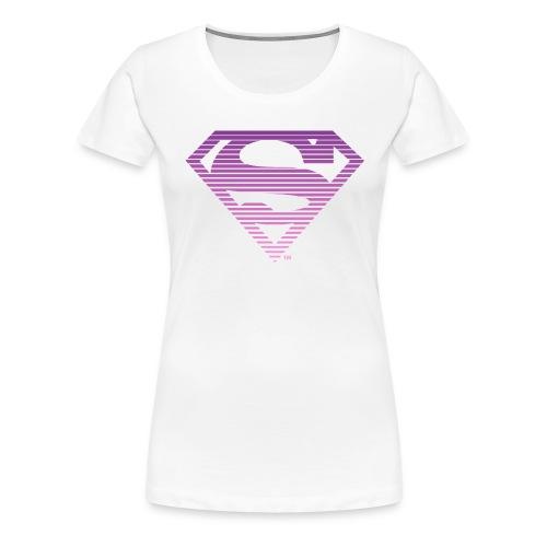DC Comics Superman Gestreiftes Logo Farbverlauf - Frauen Premium T-Shirt