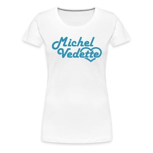 Logo Michel Vedette bleu cyan - T-shirt Premium Femme