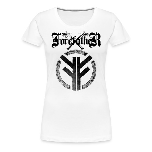 Forefather logo and symbol black - Women's Premium T-Shirt