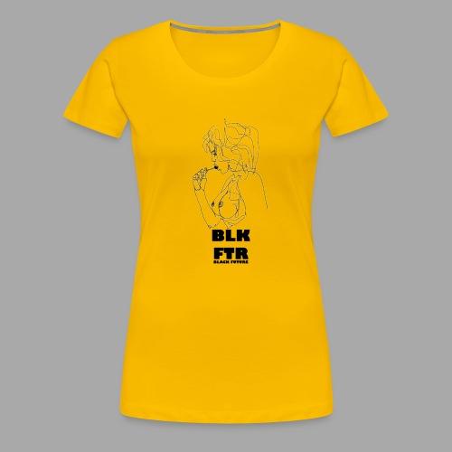 BLK FTR N°6 - Maglietta Premium da donna