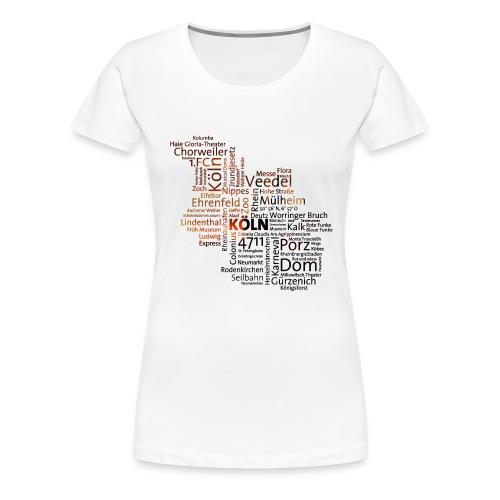 cloud koeln - Frauen Premium T-Shirt