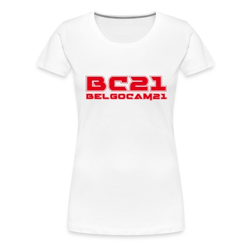 BC21 redred png - T-shirt Premium Femme