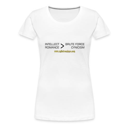 shirt intellect - Women's Premium T-Shirt