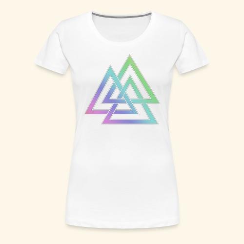 valknut 1 png - Women's Premium T-Shirt