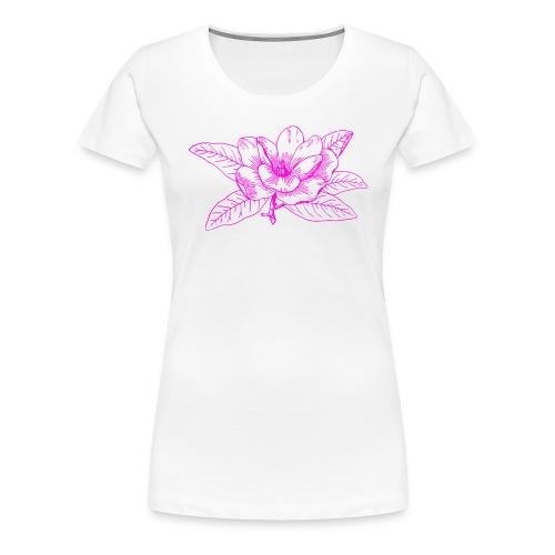 Camisetas y accesorios de flor color rosada - Camiseta premium mujer