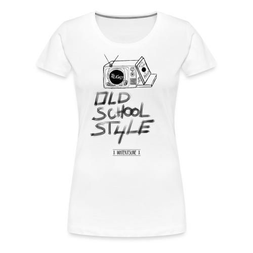 Tekno White - T-shirt Premium Femme