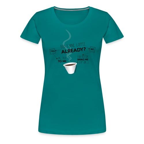 Not a morning person fondi chiari - Maglietta Premium da donna