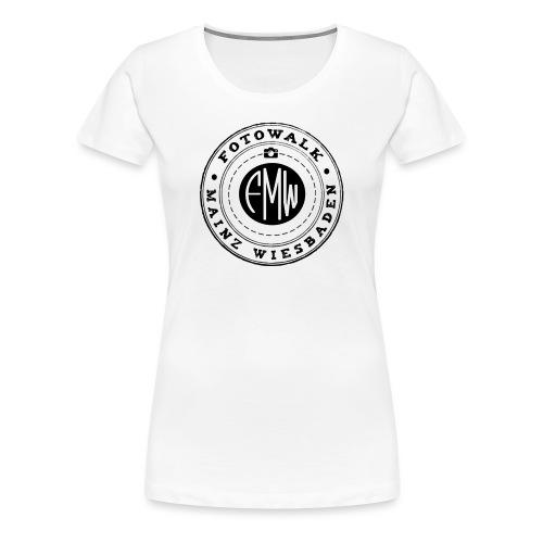 FOTOWALK LOGO SCHWARZ - Frauen Premium T-Shirt