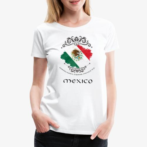 Mexico Vintage Bandera - Frauen Premium T-Shirt