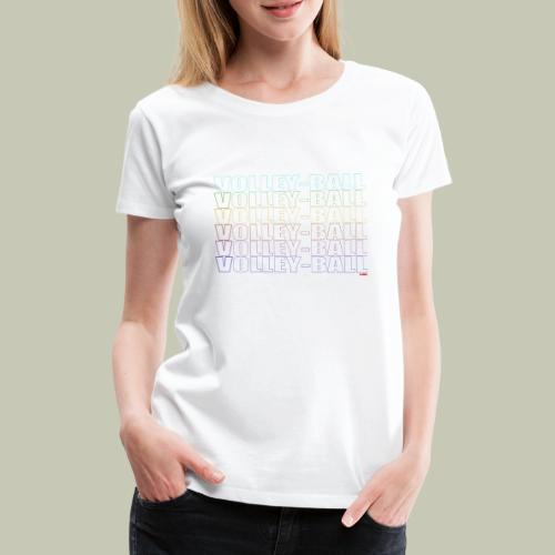 T-Shirt Volley Ball Dégradé - T-shirt Premium Femme