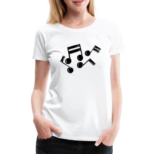 Musik Symbol Noten Musiker Musikerin spielen - Frauen Premium T-Shirt