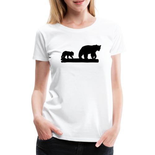 Bären Bär Grizzly Wildnis Natur Raubtier - Frauen Premium T-Shirt