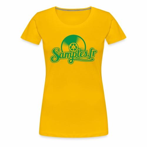 Samples.fr Vert - T-shirt Premium Femme