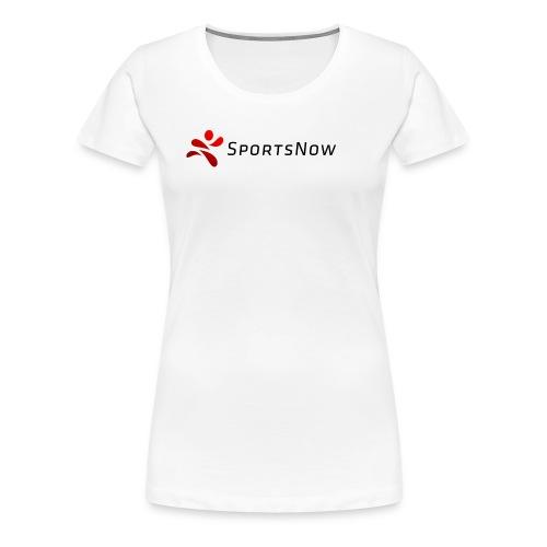 SportsNow-Logo mit schwarzer Schrift - Frauen Premium T-Shirt