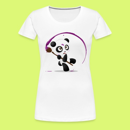 Painting Panda - Frauen Premium T-Shirt