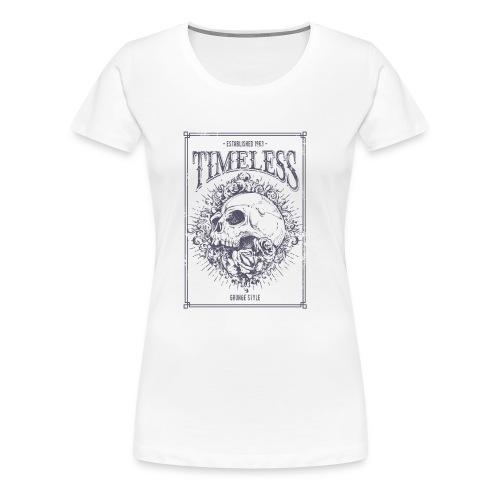 Grunge Punk Skull - Frauen Premium T-Shirt