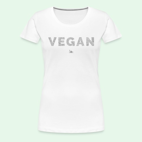 Vegan - Black - Premium-T-shirt dam