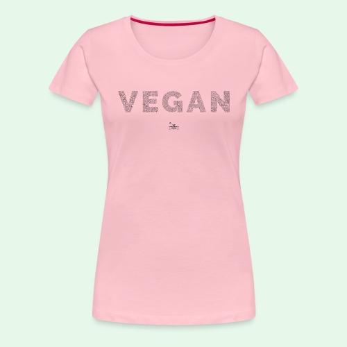 Vegan - Black - Premium-T-shirt dam