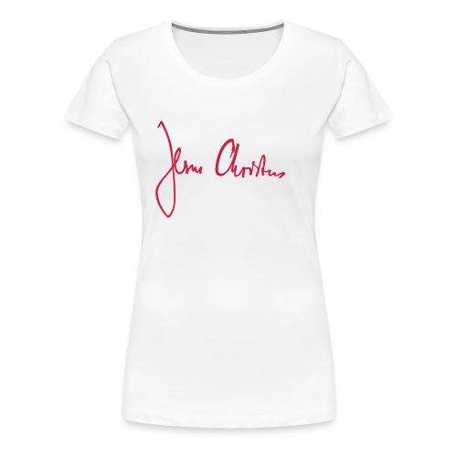 JesusChristus manual - Frauen Premium T-Shirt